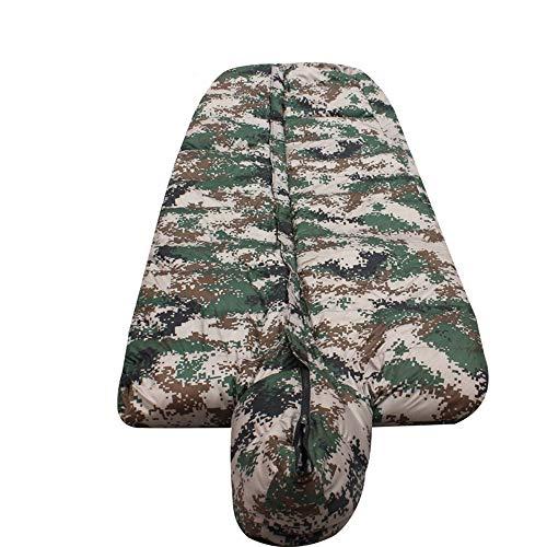 SMLJJHW Schlafsack. Tarnung-Mantel-Schlafsack, Daunenwinter-Schlafsack, Mumienschlafsack, langlebig, warm und bequem, passend für eine Vielzahl von Umgebungen