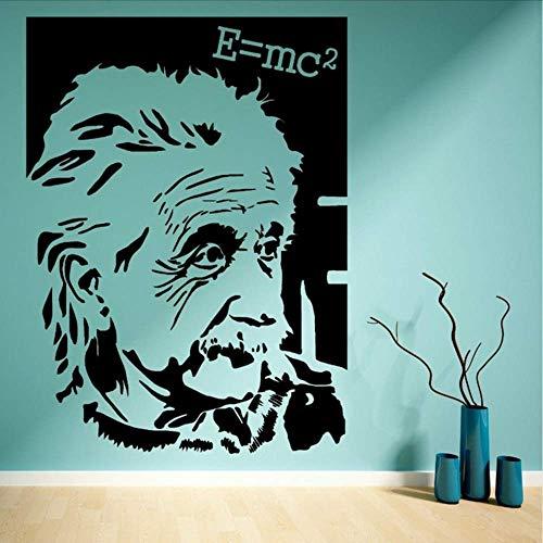 Berühmte Wissenschaftler Albert Einstein Bild Vinyl Aufkleber Kunstwand Wandtattoos Wohnkultur 57 * 80. Cm