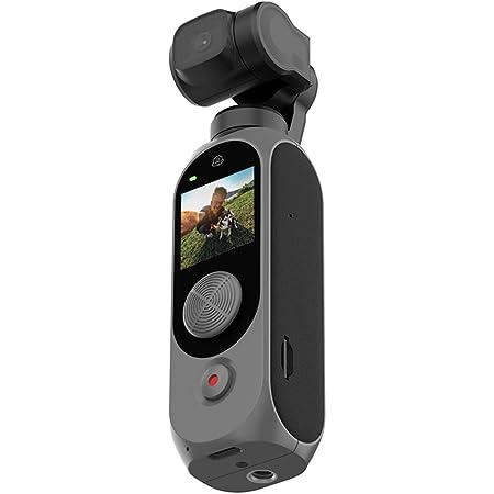 【正規代理店】Fimi Palm 2 ビデオカメラ 128GBセット 4K/30fps Vlog用カメラ 短動画用 128°超広角 Wi-Fi 駆動時間延長 暗所改善 ジョイスティック静穏化 断熱素材 手ぶれ補正強め フィスク・アクティブトラック対応 3倍ズーム 複数の撮影モードー 外部マイク直接接続 日本語表記&APP