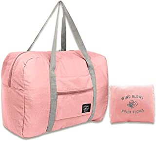 Foldable Travel Bag Travel Duffle Bag Lightweight Waterproof Travel Luggage Bag (Pink).