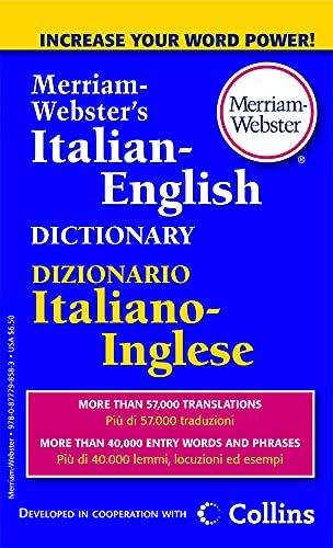 Merriam-Webster's Italian-English Dictionary, Newest Edition, Mass-Market Paperback (Italian and English Edition)