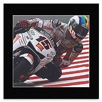 Super Bikes - Alex de Angelis of San Carlo Honda MotoGP Team German Grand Prix Mini Poster - 40x40cm