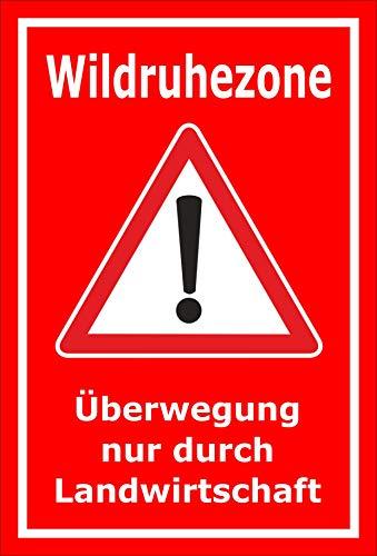 Melis Folienwerkstatt Schild Wild-Ruhezone - 45x30cm - 3mm Aluverbund – 20 VAR S00359-111-D