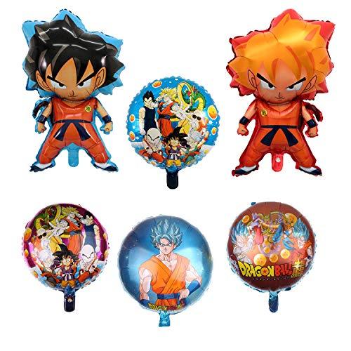 Le set de 6 ballons Dragon Ball Z