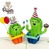PaperCrush® Pop-Up Geburtstagskarte Kaktus [NEU!] - Lustige 3D Popup Karte zum Geburtstag, Glückwunschkarte für Kindergeburtstag mit Kakteen, Happy Birthday Karte inkl. Umschlag
