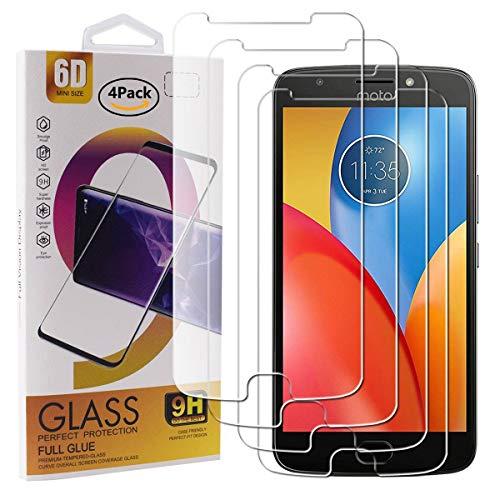 Guran 4 Pezzi Pellicola Protettiva in Vetro Temperato per Motorola Moto E4 Plus Smartphone 9H Durezza Anti-Impronte HD Alta Trasparenza Pellicola