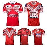 JUNBABY Maillot de Rugby des Tonga 2018, T-Shirt de Rugby de la Nouvelle Version 2019, Maillot de Football pour Homme-Red-L