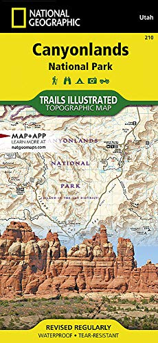 Canyonlands National Park: National Geographic Trails Illustrated Utah (National Geographic Trails Illustrated Map, Band 210)