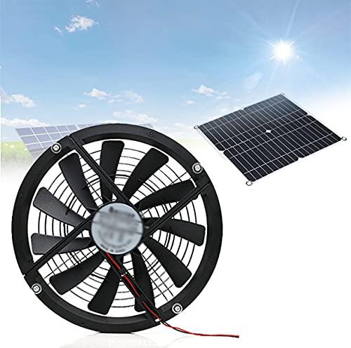 HAIT Ventilatore di Scarico Portatile, Ventilatore Energia Solare, Forte Flusso d Aria, Sicuro E Durevole, Funzionamento Ultra Silenzioso, per Viaggi Campeggio Esterno
