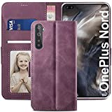 YATWIN Oneplus Nord Case, Oneplus Nord Flip Wallet Leather