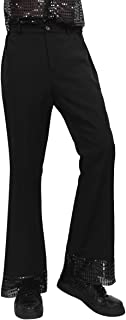 Homme noir années 1970 disco pantalon pantalon fancy dress costume flares 70S années 1960 60S
