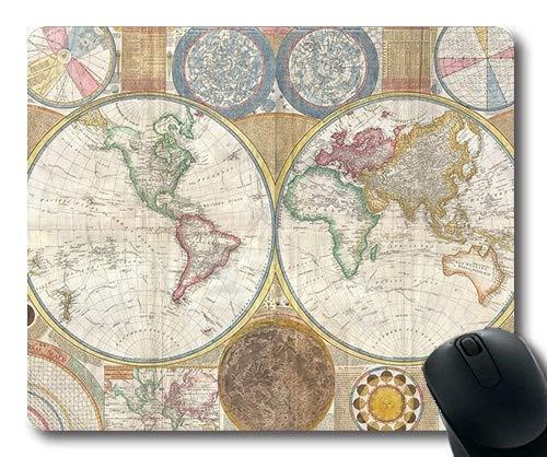 Yanteng Alfombrilla de ratón de Mapa de Novedad, Mapa del Mundo Alfombra de ratón de Mapa YT 037
