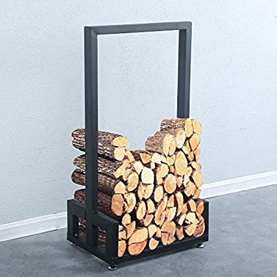 Weven Industrial Heavy Duty Firewood Log Rack for Home Fire Place Decoration,Indoor Outdoor Wrought Rustic Iron Firewood Holders,Lumber Storage Stacking