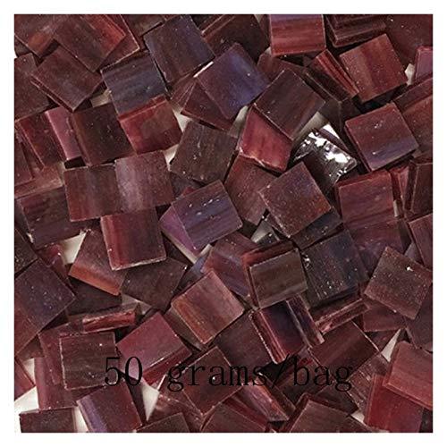 ShawnBlue DIY Hecho a Mano Mosaico Azulejos Diamante Transparente Color Mezclado Vidrio para artesanías de Mosaico Suministros Materiales de Arte de Rompecabezas (Color : Dark Gray)