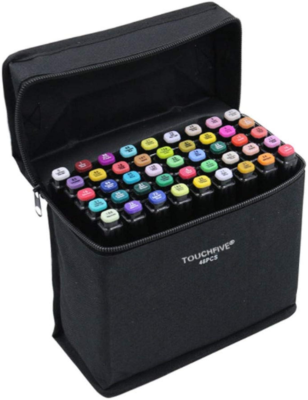 ASDFGH Künstler Notwendiger Graphic Marker Pen Doppelseitige Finecolour Sketch-Marker Sketch-Marker Sketch-Marker mit breiter und feiner Spitze mit schwarzer Tasche (30 40 60 in Schwarz),40,C B07KV2FSPJ     | Deutschland Outlet  cabcc7