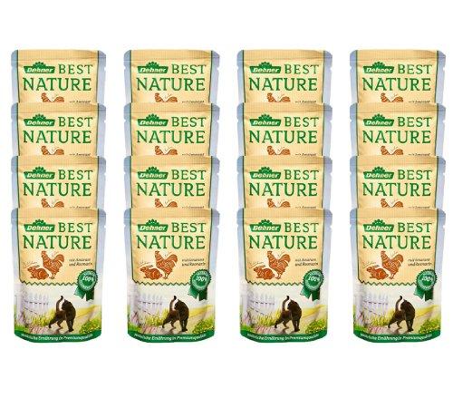 Dehner Best Nature Katzenfutter Adult, Wildkaninchen und Huhn mit Amarant, im Beutel, 16 x 85 g (1.36 kg)