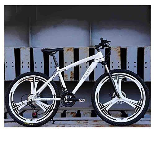 SOAR Bicicleta de montaña Bicicleta de Bicicletas de montaña del Camino de MTB for Adultos Bicicletas for Hombres y Mujeres de 26 Pulgadas Ruedas Ajustables Velocidad Doble Freno de Disco