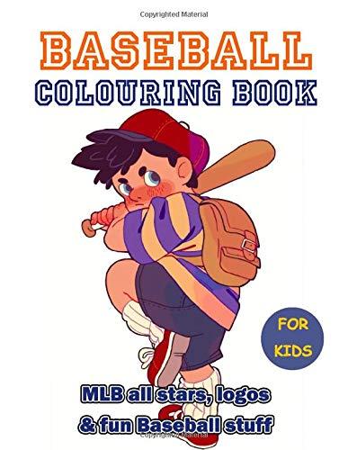 Baseball Colouring Book: 35+ beautiful illustrations of MLB all stars, logos and baseball stuff