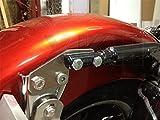 XKH- Bagger FL Rear Fender Grab Bar Eliminator Brackets Compatible with Harley Touring [B074VPZW7F]