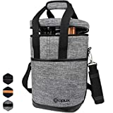 OPUX 4 Bottle Wine Cooler Bag | Wine Bottle Carrier for Travel |