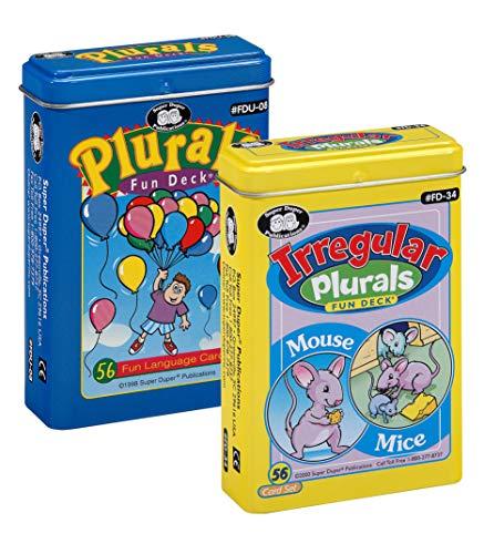 Super Duper Publications Plurals & Irregular Plurals Fun Deck Flash Cards Combo Educational Learning Resource for Children