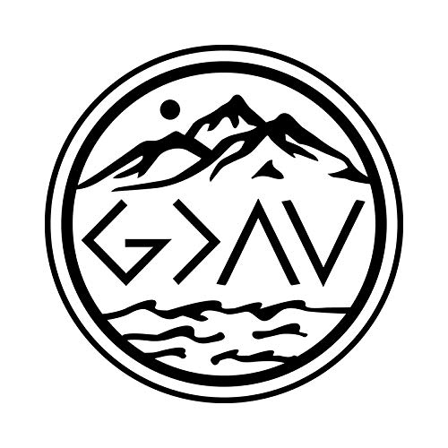 God is Greater Than The Highs and The Lows NOK Decal Vinyl Sticker |Cars Trucks Vans Walls Laptop|Black|5.5 x 5.5 in|NOK875