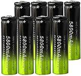 18650 batería de Litio Recargable 5800mAh 3 7V para batería de Punta de batería de Linterna LED-10pcs