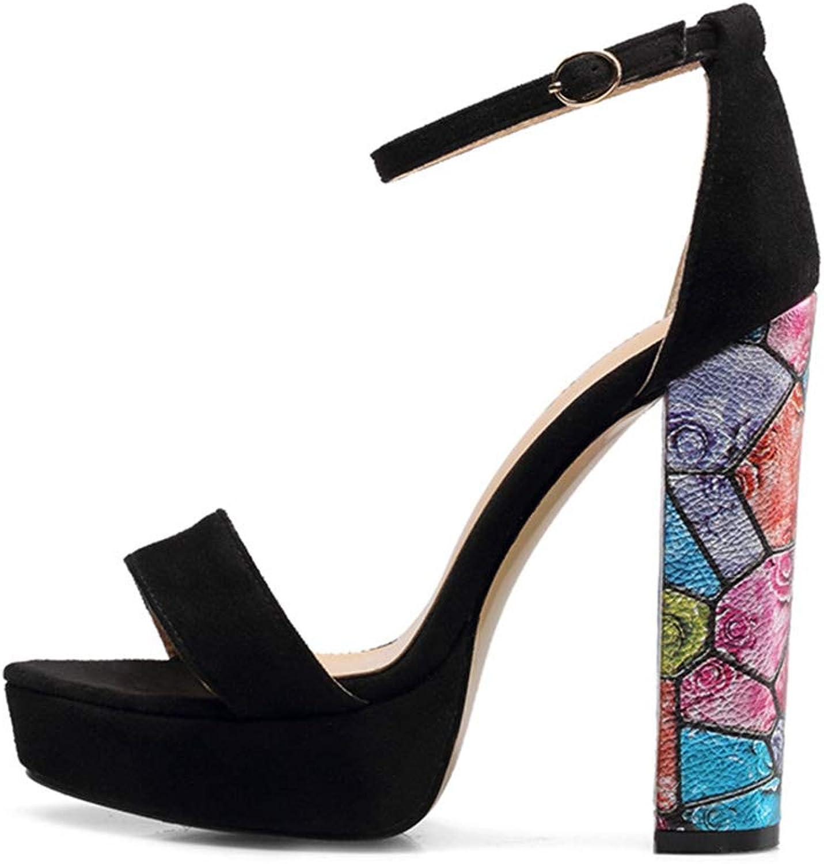 High Heels, Women's Sandals - Waterproof Platform high Heel Sandals - Dinner - Wedding shoes (Heel Height  8cm)