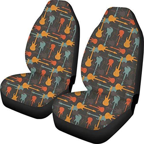 Fundas para asientos de coche Chaqlin, diseño abstracto, para guitarra, notas musicales, se adapta a la mayoría de los coches, para mujeres, hombres, mujeres, coches, camiones, vehículos y mascotas