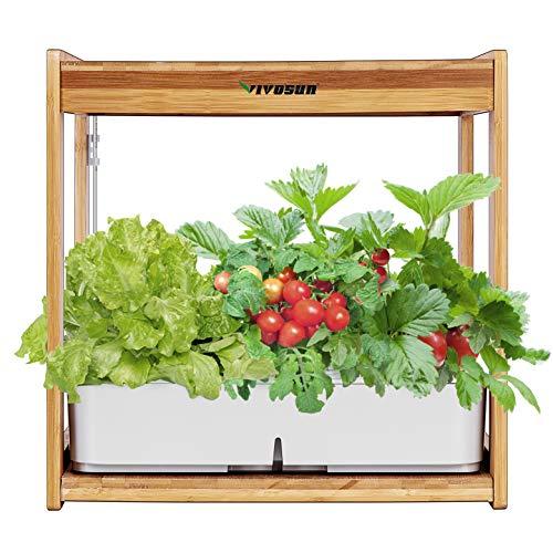 VIVOSUN Hydroponics Growing Kit Indoor Gardening Plant Kit with LED Plant...