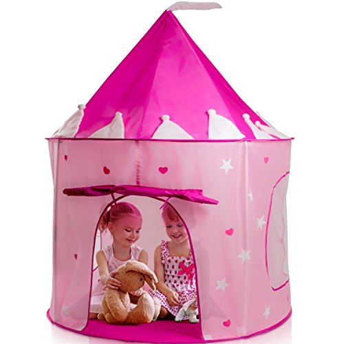 Play22 Play Tent Princess Castle Pink - Kids Tent Features Glow in The Dark Stars - Portable Kids...