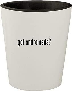 got andromeda? - White Outer & Black Inner Ceramic 1.5oz Shot Glass