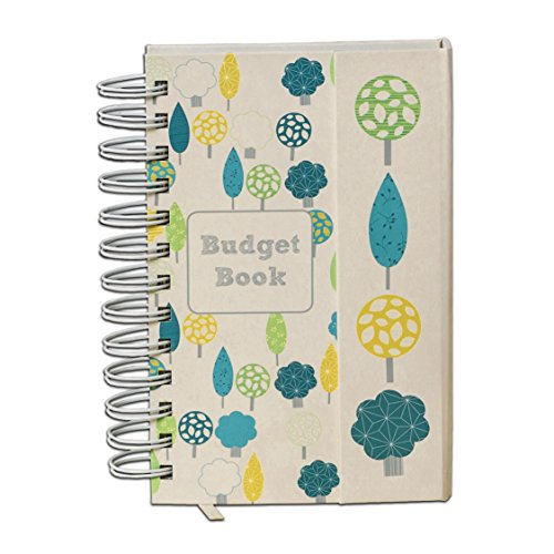 Budget Book. Monthly bill organizer. Bill tracker. Budget journal. Accounts book to keep track of finances. Pretty budget organizer. Track home expenses with pockets to store receipts (Cream)