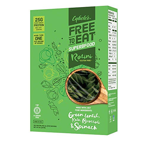Cybele's Free to Eat Superfood Veggie Pasta - Superfood Green, Rotini - 8 Oz Box (Pack Of 6)