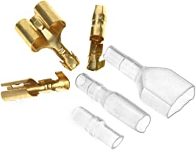 40 x Motorcycle Bullet Connectors Covers 3.9mm Terminals Male/Female & Double