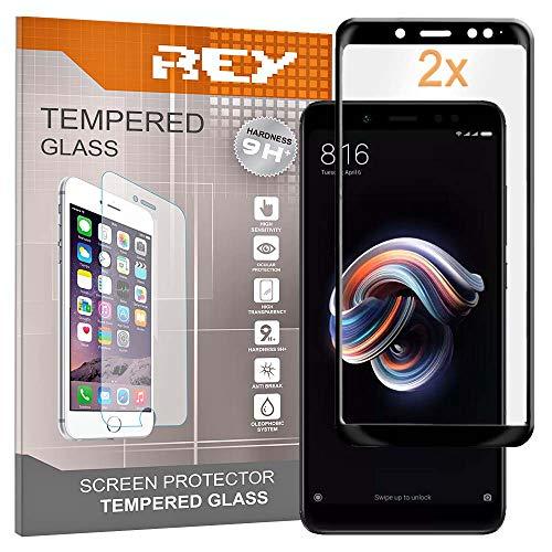 2X Protector de Pantalla 3D para XIAOMI REDMI Note 5 - REDMI Note 5 Pro, Negro, Protección Completa, 3D / 4D / 5D