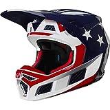 Fox Racing V3 Prey Men's Off-Road Motorcycle Helmet - White/Red/Blue/Medium