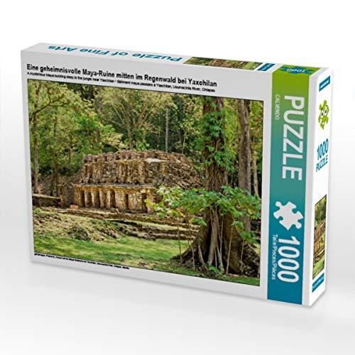 CALVENDO Puzzle Eine geheimnisvolle Maya-Ruine Mitten im Regenwald bei Yaxchilan 1000 Teile Lege-Größe 64 x 48 cm Foto-Puzzle Bild Verlag