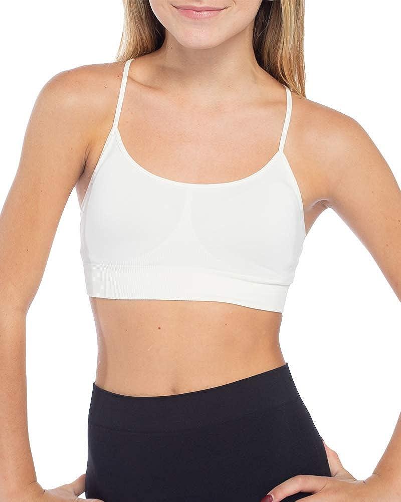 Malibu Sugar Girls Training Bra (Fits Size 10-14) Seamless Bra with Soft, Stretchy Fabric