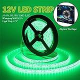 IEKOV Led Strip Lights, trade; 2835 SMD 600LEDs Waterproof Flexible Xmas Decorative Lighting Strips, LED Tape, 5M 16.4Ft DC12V, 3 times brightness than SMD 3528 LED Light Strip (Green)