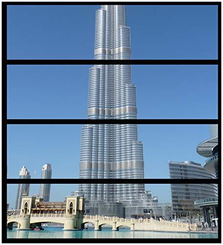 Wallario Möbelfolie/Aufkleber, geeignet für IKEA Malm Kommode - Wolkenkratzer in Dubai mit 4 Schubfächern