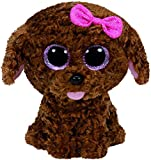 TY- Perro Peluche, juguete, Color marrón, 23 cm (United Labels Ibérica 37040TY) , color/modelo surtido