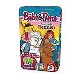 Schmidt Spiele 51417 Blocksberg/Bibi & Tina Bibi und Tina, Das große Rennen, Reisespiel in der Metalldose, Bunt