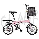 Luorizb Mini Folding Bicycle Student Bicycle Single Speed Disc Brake Adult Compact Foldable Bike...