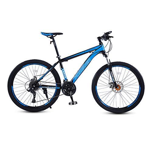 Bicicleta, Bicicleta de montaña de 26 pulgadas, Bicicleta de 27 velocidades, Con marco de aleación de aluminio ultraligero, Para adultos y adolescentes, fácil de instalar, Se adapta a varios terr