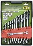 JBM 51318 Llaves combinadas articuladas con trinquete