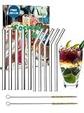 Vayu Glasstrohhalme wiederverwendbar 10er Set 20 cm lang inklusive **gratis eBook** | Plastikfreie...