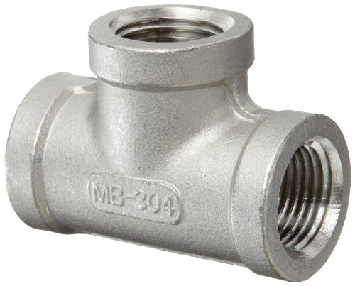 Stainless Steel 304 Cast Pipe Fitting, Tee, Class 150, 1/2' NPT Female