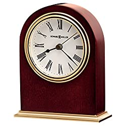 Howard Miller Craven Table Clock 645-401 – Wooden & Round with Quartz Alarm Movement