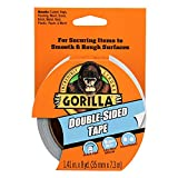 Gorilla 両面テープ 1.4インチ x 8ヤード グレー (1パック) 100925